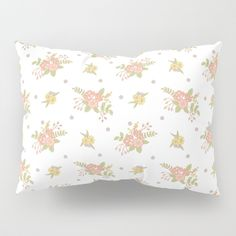 It's time to upgrade your bedding. Our Pillow Shams merge creativity with premium fabrics, bringing unique style to your bedroom. Each of our pillow covers feature designs printed on soft, fuzzy 100% polyester for colorfully vibrant images.      #peach #blossom #fresh #Kids #baby #Flowers #Floral #Springtime #Pastels #Flowery #bloom #botanical #garden #Mia #society6 #Pillow #Sham