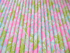 LILLY PULITZER Paper Straws (Watercolor Wildflowers - Pack of 25 or 50) **Weddings, Parties, Showers, Gifts** Easter Pastel Party