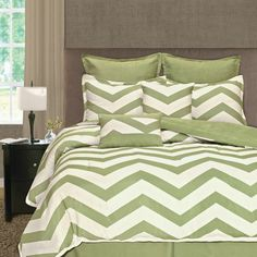 Features:  -Oversized.  -Reversible.  -Palmetto Print Works collection.  -Comforter set and shams are washable.  Product Type: -Comforter/Comforter set.  Style: -Modern.  Material: -Polyester.  Number