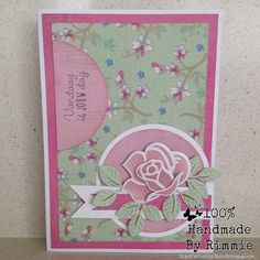 Handmade By Rimmie: één roos Marianne Design Cards, Flower Cards, Wedding Anniversary, Wedding Cards, Stampin Up, Flowers, Handmade, Crafts, Scrap