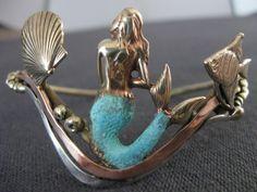 Mermaid bracelet bronze copper silver by coltenjewelry on Etsy