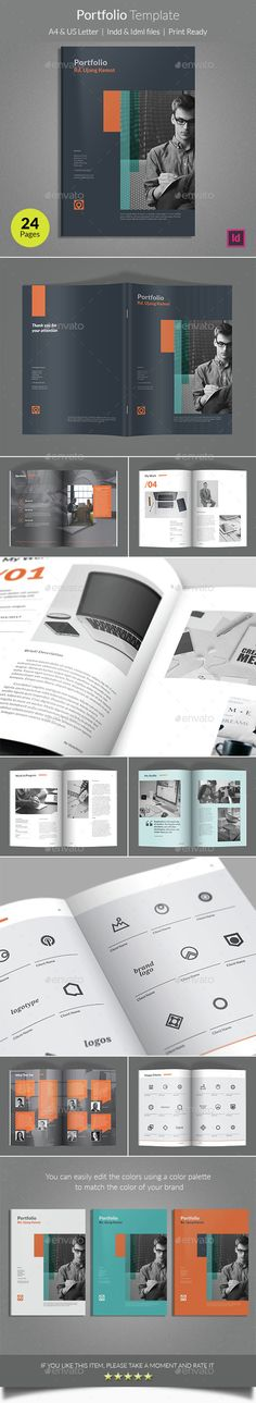 Portfolio Template  —  InDesign Template • Only available here! →…