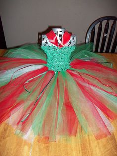 Christmas Elf Tutu Dress by itsybitsyprincess on Etsy, $30.00
