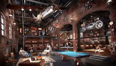 Here are 40 of our best picks for most beautiful loft living spaces! Read what is a loft apartment and loft style. Get ideas for your loft homes. Design Garage, Loft Design, House Design, Lofts, Loft House, Garage House, Man Cave Garage, Dream Garage, Industrial House