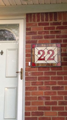 Stained Glass Address Sign, Custom House Numbers, Entryway Decor, Home Address, Number Plaque, Custom Stained Glass Panel