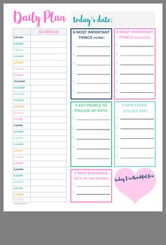 planning with kay bullet journal * planning with kay To Do Planner, Daily Planner Pages, Daily Planner Printable, Planner Template, Weekly Planner, Life Planner, Happy Planner, Daily Schedule Template, College Planner