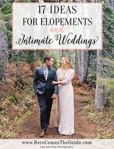 17 Elopement Ideas + Intimate Wedding Inspiration | Here Comes The Guide