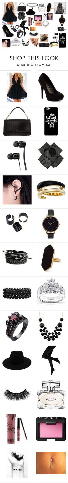 """Untitled #178"" by callmeaimeex ❤ liked on Polyvore featuring WithChic, Michael Antonio, DKNY, Vans, Black, Michael Kors, Olivia Burton, Jaeger, Bling Jewelry and Kobelli"