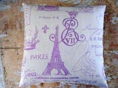 Paris Pillow Eiffel Tower French Decor French by parismarketplace