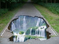 Waterfall chalk art https://www.facebook.com/photo.php?fbid=493280884052691=a.464894373558009.96257.464892343558212=1
