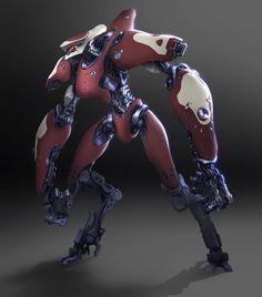 texts, joe peterson, robots, artists, mecha, robot concept art, scifi, lanki mech, concept artist