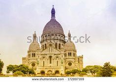 The Sacre Coeur in Paris. - stock photo
