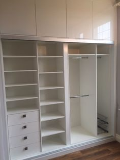 metal barn homes White ash interiors Wardrobe Design Bedroom, Bedroom Cupboard Designs, Bedroom Cupboards, Wardrobe Cabinets, Master Bedroom Closet, Bedroom Wardrobe, Wardrobe Closet, White Wardrobe, Wooden Wardrobe