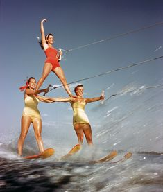 Three Girl Pyramid: 1957