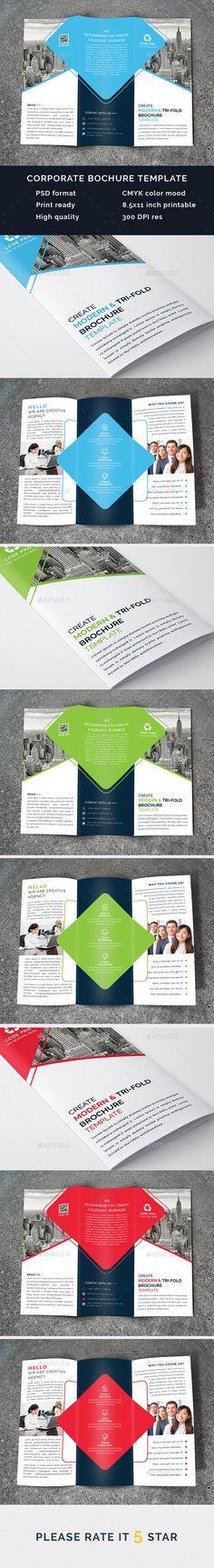 HappyShop  E-Commerce Tri-Fold Brochure Advertising, eCommerce - fashion design brochure template