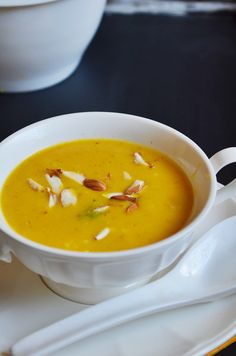 carrot and oats soup: Recipe @ http://cookclickndevour.com/carrot-almond-oats-soup-recipe