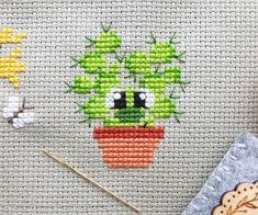 Pasquale the Cactus Cross Stitch Pattern PDF Prickly but Cactus Cross Stitch, Tiny Cross Stitch, Cross Stitch Heart, Cross Stitch Cards, Cross Stitching, Modern Cross Stitch Patterns, Counted Cross Stitch Patterns, Cross Stitch Designs, Cross Stitch Embroidery