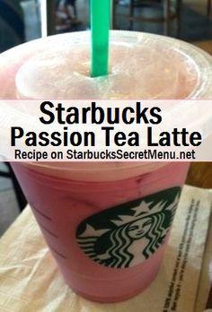 Starbucks Passion Tea Latte A simple modification that creates a completely different passion tea experience. Starbucks Secret Menu Drinks, Starbucks Recipes, Starbucks Coffee, Starbucks Smoothie, Starbucks Frappuccino, Tea Recipes, Coffee Recipes, Copycat Recipes, Milkshakes