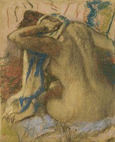 Edgar Degas Woman Drying Her Hair 1885