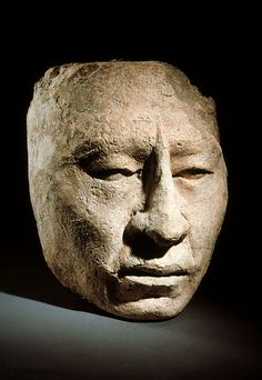 Rostro en piedra, cultura maya