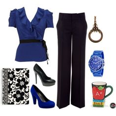 Looks like this is supposed to be a teacher outfit, but those heels??? Flats for me!