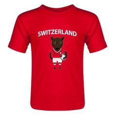 Switzerland Animal Mascot Toddler T-Shirt (Red)