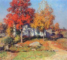 """Willard Leroy Metcalf (1858-1925), """"October"""""""