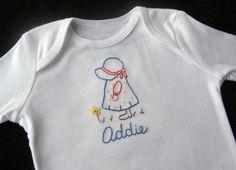 Addie hand embroidered onesie