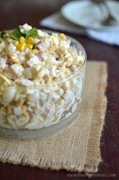 Sałatka z cebulką konserwową Polish Recipes, Polish Food, Appetisers, Food Cravings, Kraut, Salad Recipes, Macaroni And Cheese, Sushi, Food And Drink