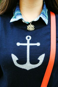 plaid, monograms, and anchors.
