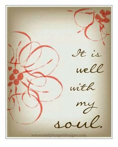 Bible Verse Wall Art Print | It is well with my soul. | Prints ...