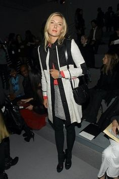 Like her in this style . Maria Sharapova