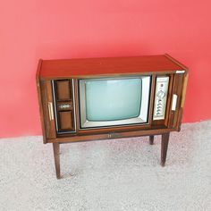Retro looking tv from the black and white screen era. Available exclusively at Red Sega Seeds Singapore. Box Tv, Vintage Furniture, Singapore, Seeds, Black And White, Retro, Black White, Retro Illustration, Black N White