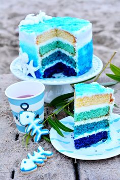 Kessy's Pink Sugar: Into the Blue Ocean - sweet table by Blueboxtree