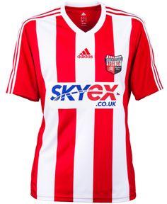 Brentford Home Shirt 2013-14 Adidas Team Shirts, Sports Shirts, Brentford Fc, Championship League, British Football, Football Kits, Premier League, Austrian Empire, Soccer Jerseys