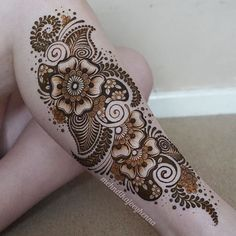 I haven't had a huge leg henna on myself for the longest time! I bloody love…