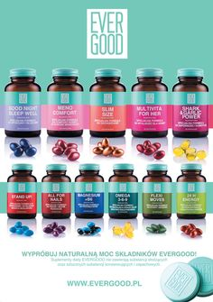 Brand identity & packaging design - evergood by zuzia ozga, via behance marketing Drug Packaging, Medical Packaging, Food Packaging Design, Bottle Packaging, Packaging Design Inspiration, Brand Packaging, Herbalife Shake Recipes, Brand Identity, Branding