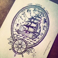 ship tattoo - Buscar con Google
