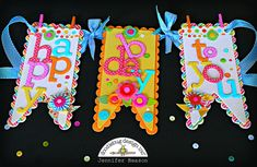 Doodlebug Design Inc Blog: Alphabet Challenge: Birthday Banner by Jennifer
