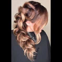 Braid balayage with texture by Guy Tang