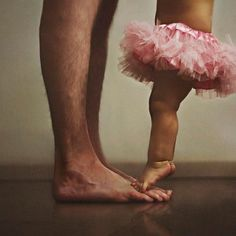 dancing on Daddy's toes