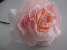 Beautiful rose made from a coffee filter - tutorial with pictures