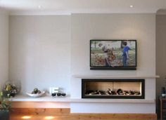 Studio Gas Fire with Stone Shelf Quality fires, fireplaces and stoves: Sales, Installation, Design - full service Basement Fireplace, Fireplace Remodel, Modern Fireplace, Fireplace Wall, Fireplace Design, Fireplace Mantels, Ethanol Fireplace, Fireplace Ideas, Living Room Tv