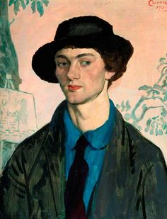 Portrait of Mark Gertler (1891-1939), 1913 by John Currie (British 1883–1914)