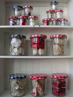 bonne maman jars for craft storage
