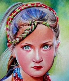 Kalash girl - Sketching by Marie Bouldingue at touchtalent