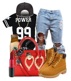 """""""Youngin Chasin A Dream"""" by trinityannetrinity ❤ liked on Polyvore featuring Acne Studios, Michael Kors, River Island, Timberland, Mark Davis and MAC Cosmetics"""