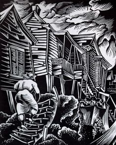 HALE WOODRUFF / Hale Woodruff Returning Home 1935 woodcut.jpg