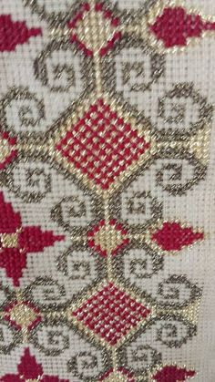 This Pin was discovered by Sel Wool Embroidery, Cross Stitch Embroidery, Embroidery Patterns, Cross Stitch Designs, Cross Stitch Patterns, Blackwork, Palestinian Embroidery, Cross Stitching, Needlepoint