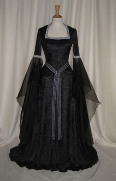 Gwyneth, a Gothic, Renaissance, Medieval Custom Made Hand Fasting Dress via Etsy